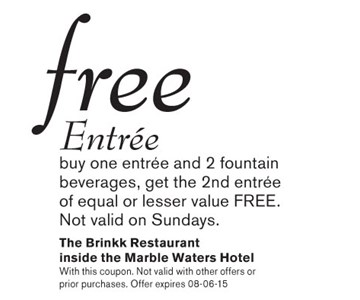 THE BRINK RESTAURANT AT MARBLE WATERS HOTEL
