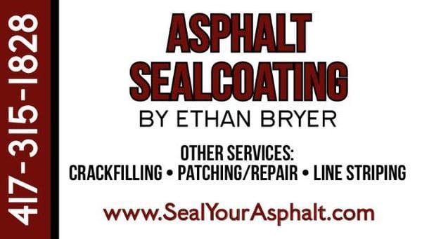 Asphalt Sealcoating By Ethan Bryer