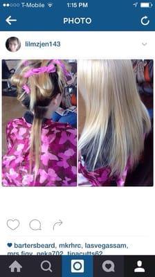 Hair art by Jen