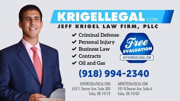 Krigel Legal- Brady District Jail Office: Tulsa DUI