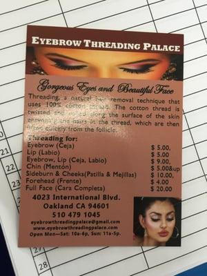 Eyebrow Threading Palace