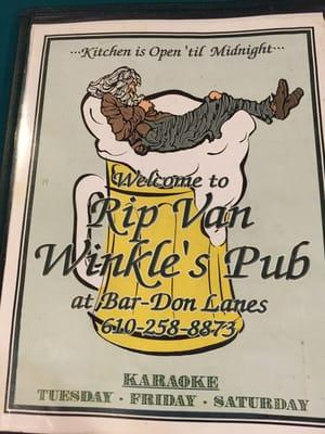 Rip Van Winkles' Pub Inside Bar-Don Lanes