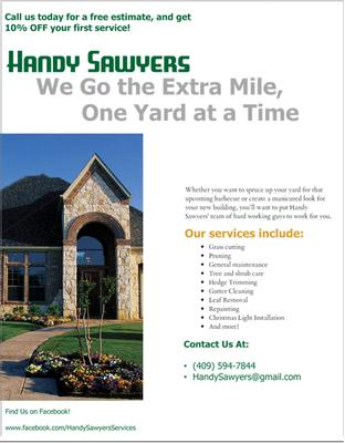 Handy Sawyers Farm & Lawn Services