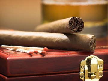 Cigars at Sunset