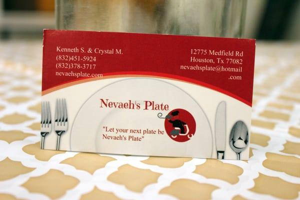 Nevaeh's Plate